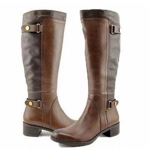 Franco Sarto Leather Brown Riding Boots - 6.5